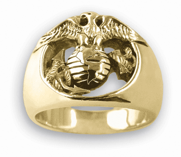 Gold USMC Eagle Ring